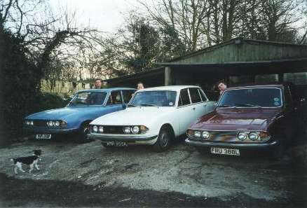 Three Mark 2 Triumph saloons