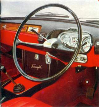 The interior of the 1963 Triumph 2000
