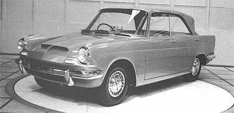 An advanced styling proposal for 'Zebu', the Triumph 2000 in development.