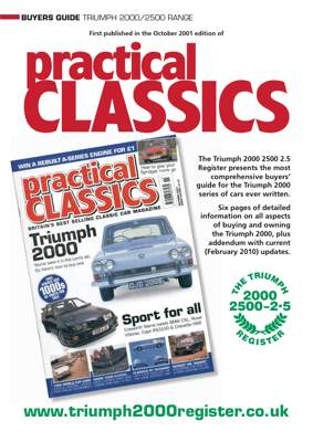 Triumph 2000 Buyers' Guide