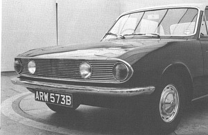An early Triumph 2000 Mark 2 styling proposal