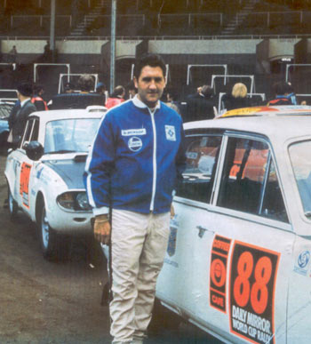Brian Culcheth at the start of the 1970 London to Mexico World Cup Rally
