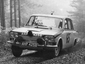 Works Triumph 2000 on the '64 RAC Rally