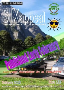 SIXappeal, the bi-monthly magazine of the Triumph 2000 Register