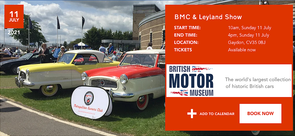 British Motor Museum BMC Leyland Show